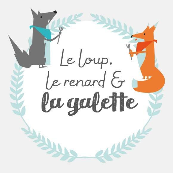 logo du loup le renard et la galette