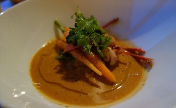 Cassolette de homard et légumes d'automne, restaurant la Tête de l'Art à Guérande