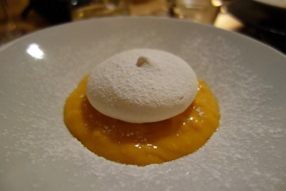 tarte potimarron et citron meringuée restaurant la tête de l'art à guérande