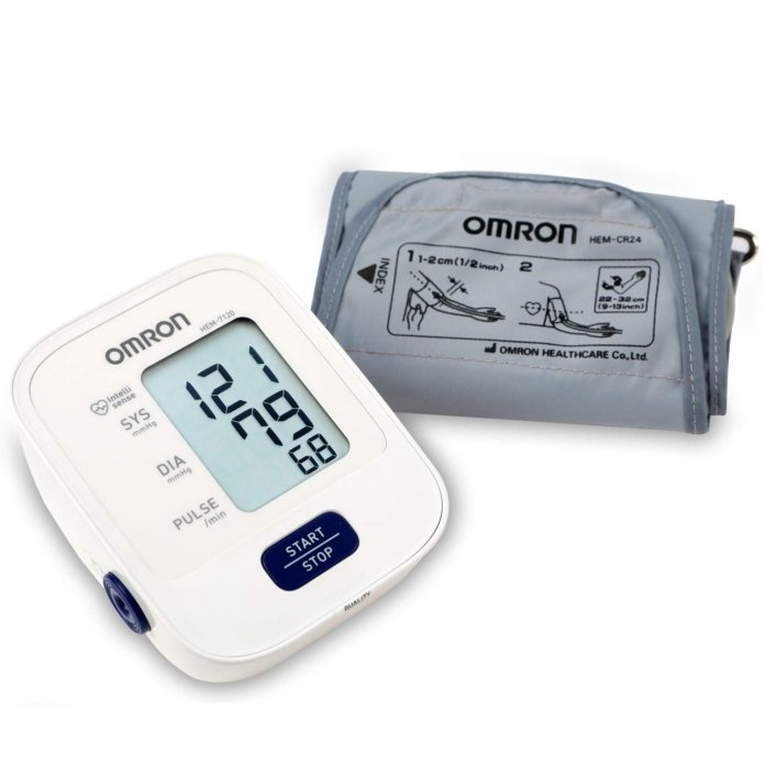 Omron HEM 7120 Fully Automatic Digital Blood Pressure Monitor With Intellisense Technology