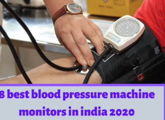 8 best blood pressure machine monitors in india (best bp machine) 2020