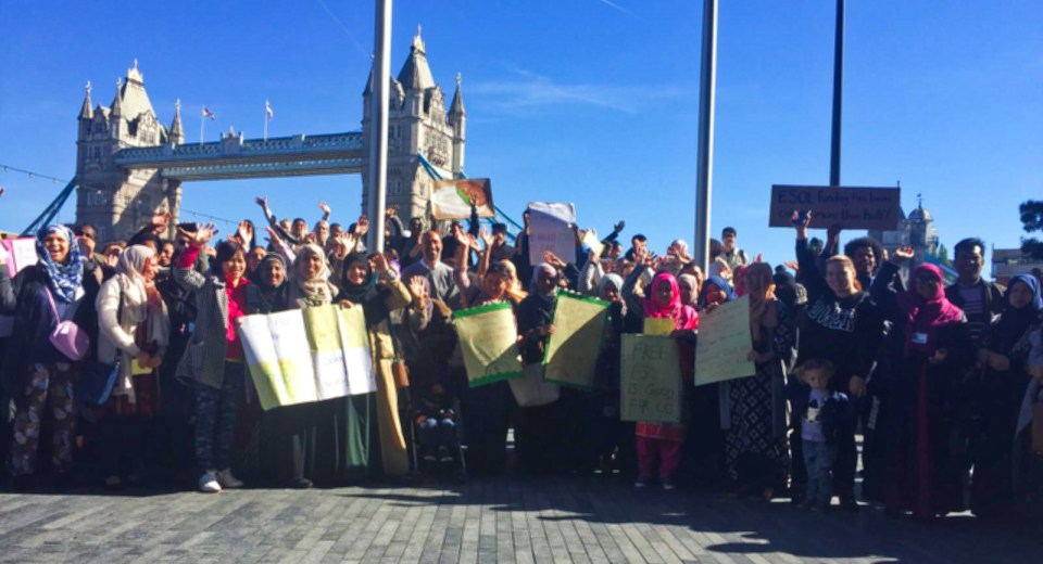 EFA students, staff, and family campaigning for ESOL in London