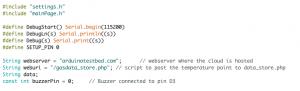 Arduino code changes