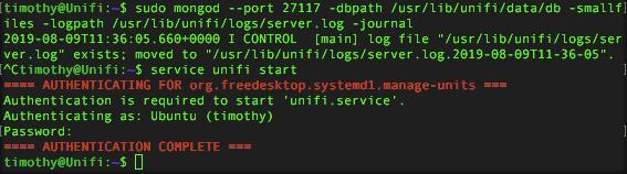 Unifi start service