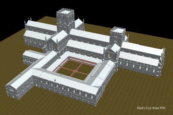 Bird's Eye view of Augustinian Abbey