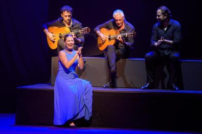 Spanish bailaora Sara Baras presents her last performance 'Momentos' during the last day of Cap Roig festival in Gerona, Catalonia, Spain, 21 August 2021. EFE/David Borrat