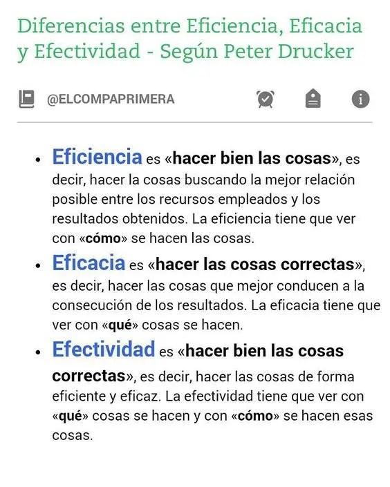 EfectiVida y las diferencias entre Efectividad, Eficacia y Eficiencia