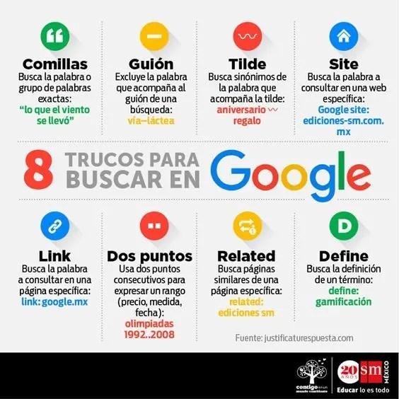 8 trucos para buscar en Google