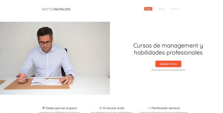 Curso online Mattia Pantaloni