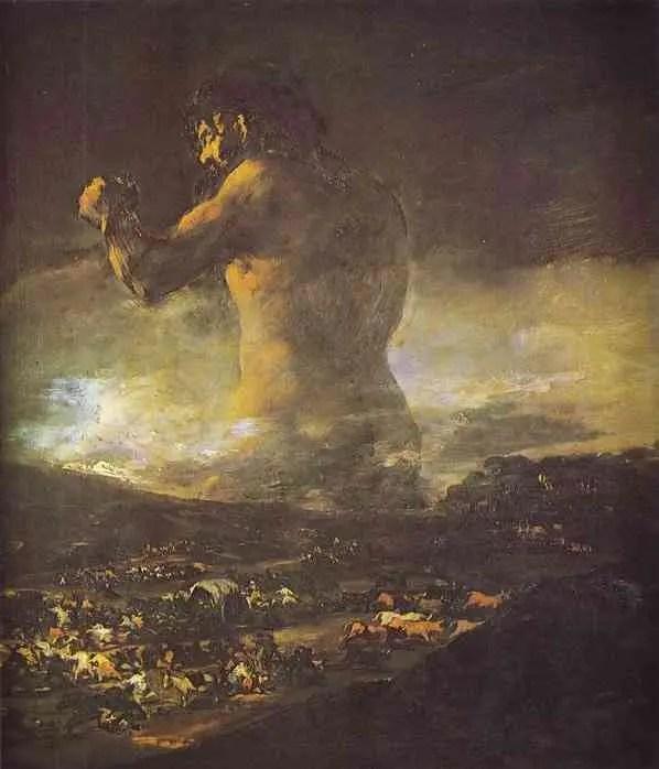 """Cuadro """"El coloso"""" de Goya"""
