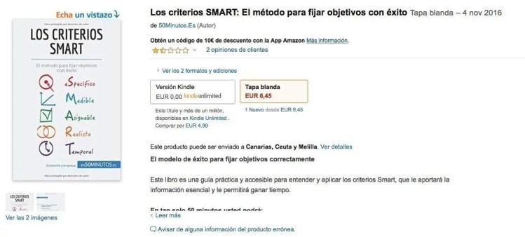 Libro los criterios SMART