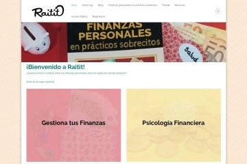 Home de la página web Raitit Finanzas