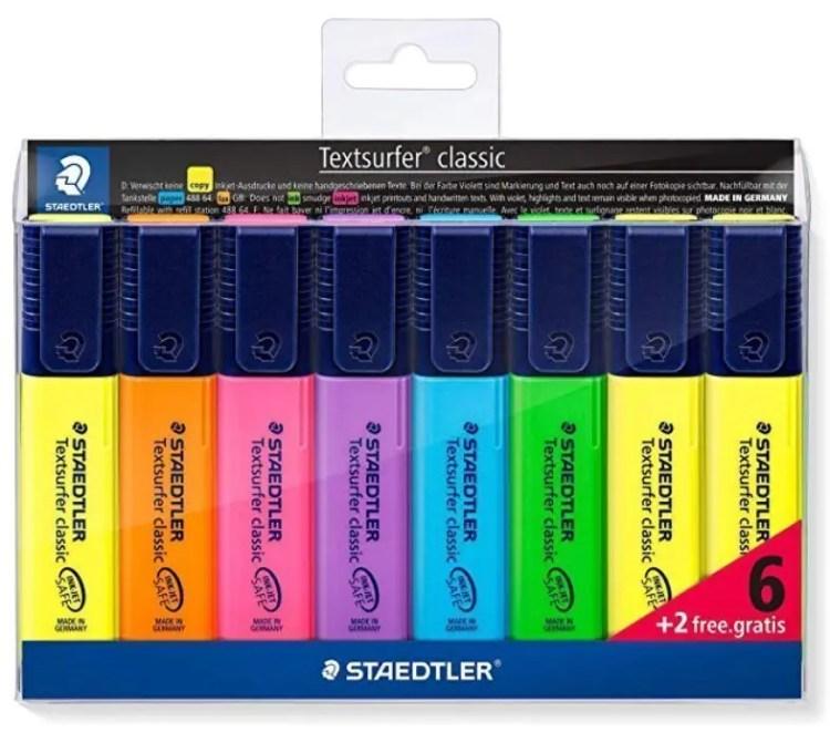 Conjunto rotuladores marcadores fluorescentes