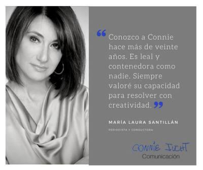 María Laura Santillán habla de Connie Iucht