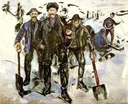 """""""Trabalhadores na neve"""", 1907"""