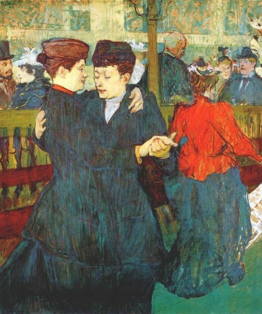 """""""At the Moulin Rouge: Two Women Waltzing"""" (1892)"""
