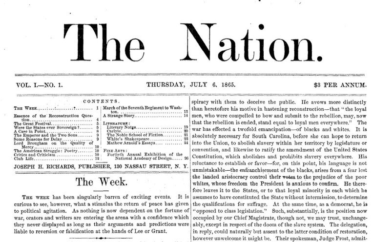 The Nation, 150 anos