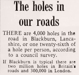 """Four thousand in Blackburn, Lancashire..."""