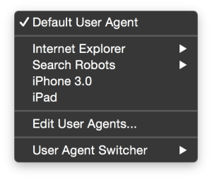 Default-User-Agent-submenu