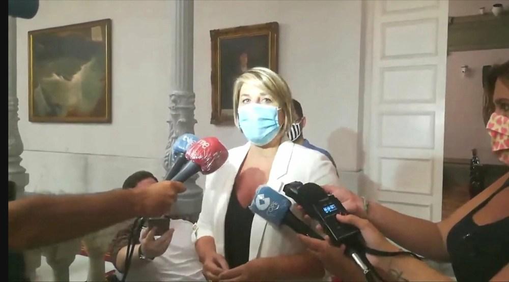 Noelia con Belmonte Ayuntamiento