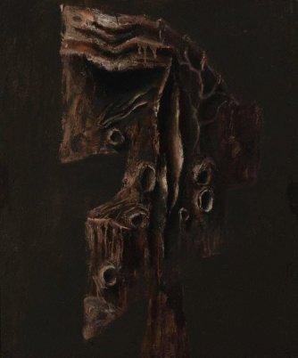 Albert Tucker, Antipodean Head II, 1959. Art Galllery of New South Wales. © AGNSW