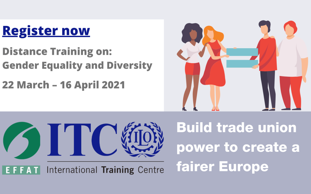 EFFAT – ITC-ILO Project – 1st Distance Training: Gender Equality and Diversity