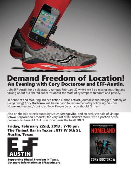 An evening with Cory Doctorow and EFF-Austin