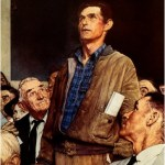"""Freedom of Speech"" by Norman Rockwell (1943)"
