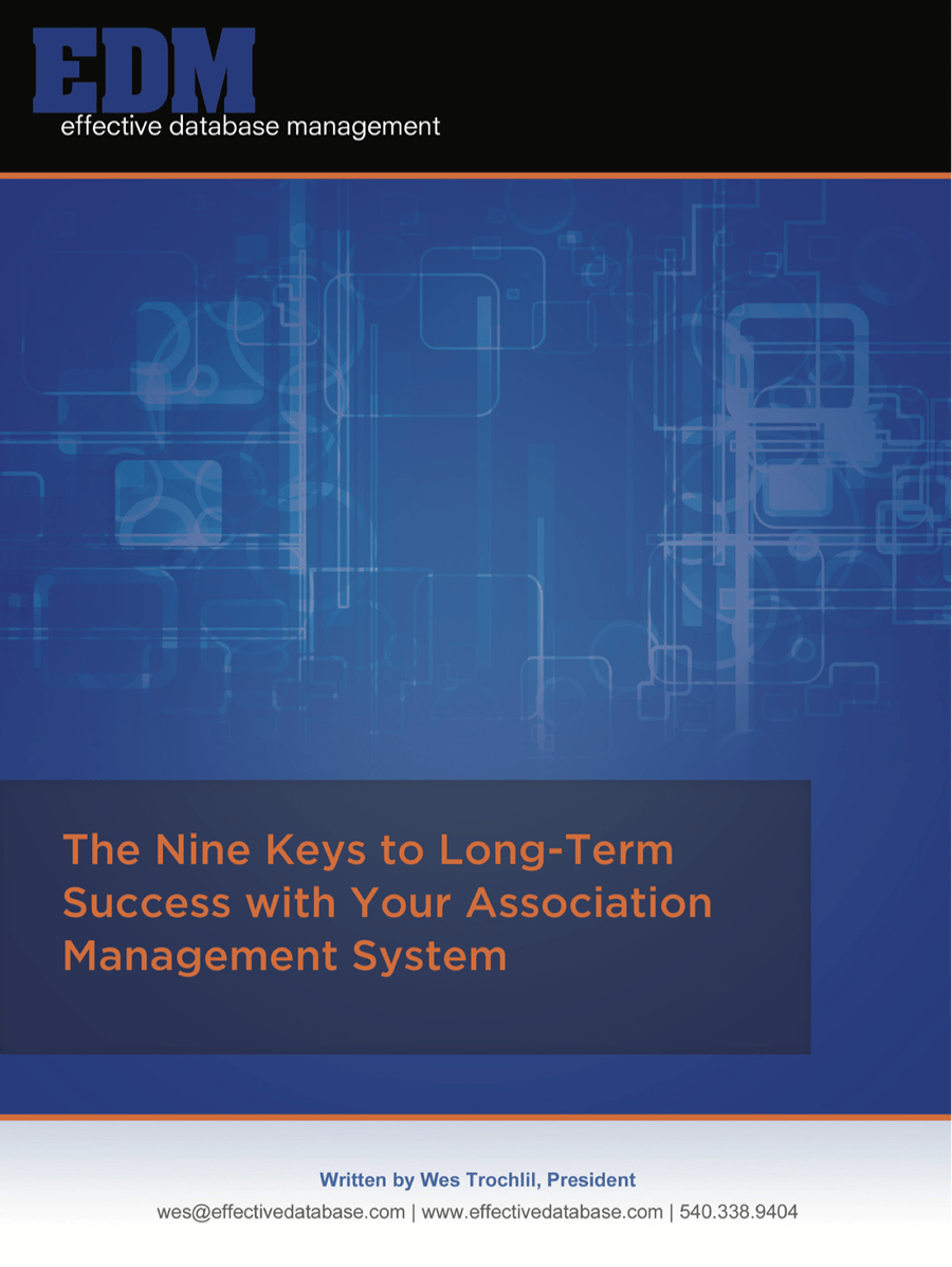 The Nine Keys to Long-Term Success with Your Association Management System