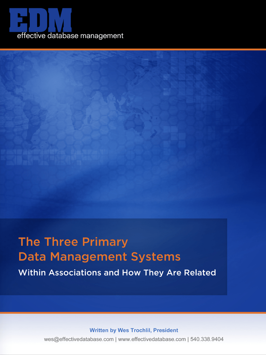 The Three Primary Data Management Systems Within Associations and How They Are Related