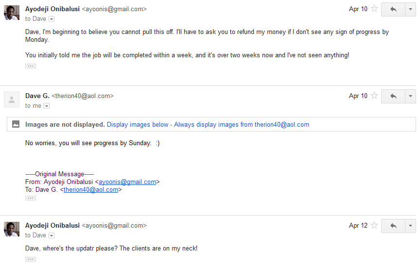 Discussion followed via email 9