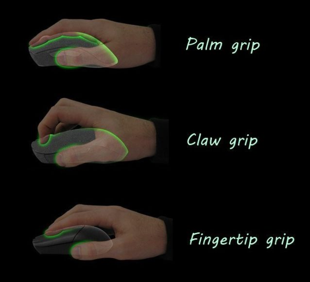 The type of grip