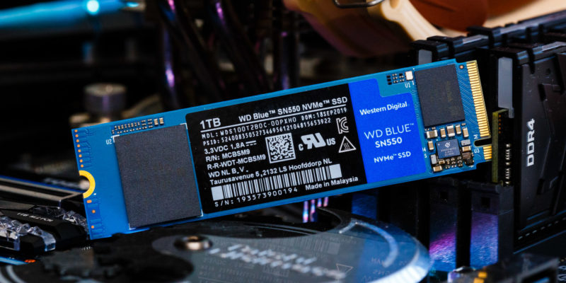 WD Blue SN550: the cheapest NVMe SSD