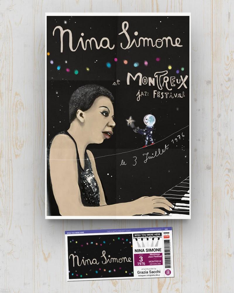 Nina Simone - Montreux Jazz Festival 1976 - Montreux - Switzerland - July 3 1976 - Grazia Sacchi