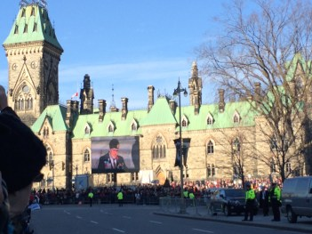 Looking toward Parliament Hill