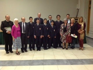 Marylyn with staff and students at book launch