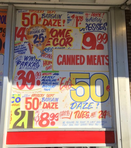 More of Honest Ed's Historic Signs on TTC Windows