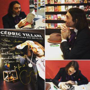 Avec Cédric Villani, pour présenter mon e-book de stress-défense