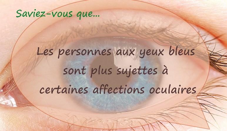 yeux bleus, les yeux, dégénérescence maculaire, sensibilité à la lumière,