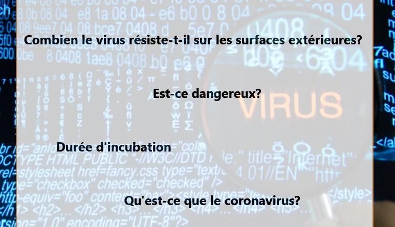 coronavirus, mesures de protection