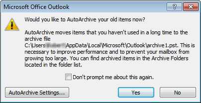 clean inbox with Outlook AutoArchive