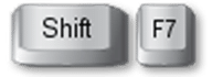 thesaurus shortcut Shift F7