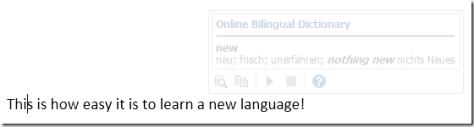 Word Mini Translator
