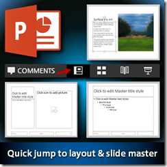 shortcut for editing layout master in powerpoint - dr. nitin paranjape