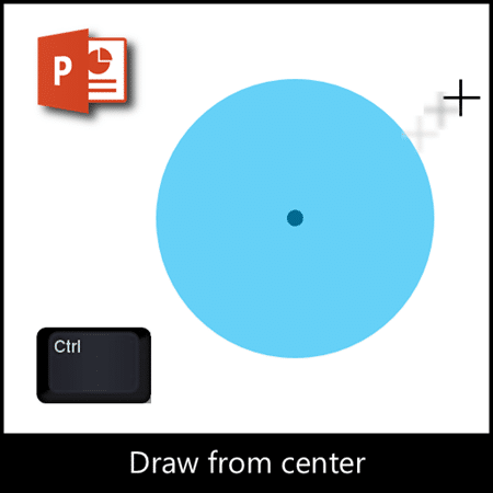 How to draw from the center