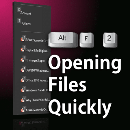 How to open files quickly