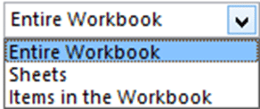 Delivering Excel reports - Choose Entire workbook