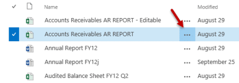 Delivering Excel reports - Share the report