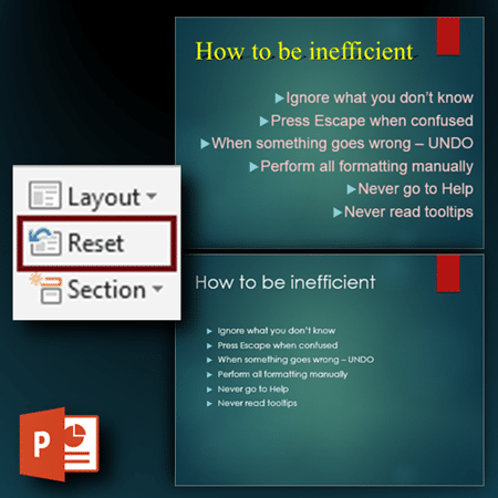 Reset button in PowerPoint - Dr. Nitin Paranjape