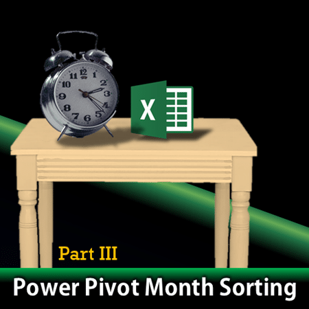 power pivot month sorting with time table